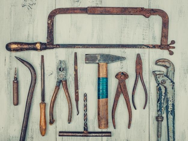 Old rusty tools Premium Photo