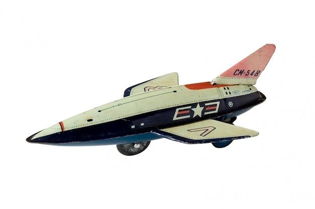Old rusty toy plane - macro Premium Photo