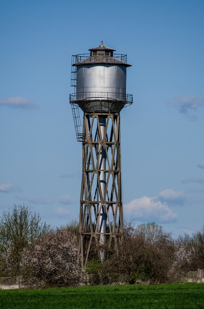 Old small town water tower Premium Photo