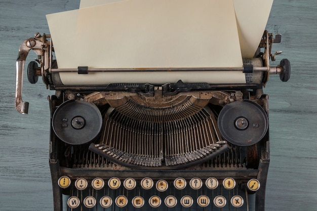 Old typewriter with a sheet of paper Premium Photo