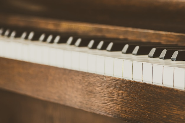 Old vintage piano keys Free Photo