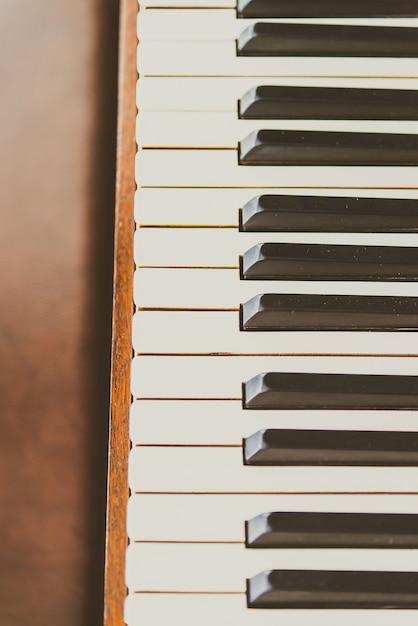 Old vintage piano keys Free Photo