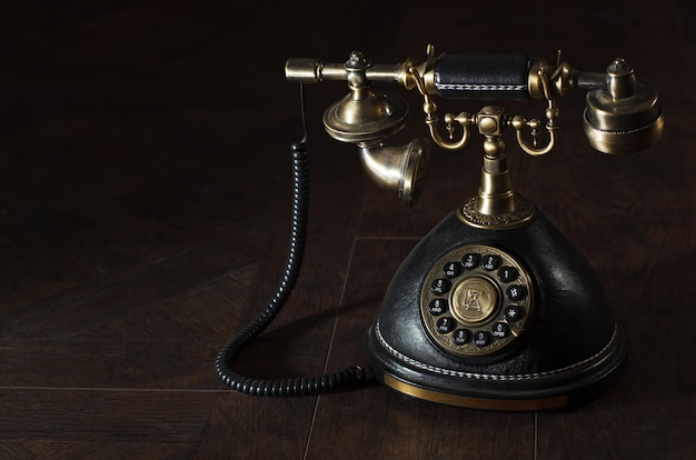 Old vintage rotary phone Premium Photo
