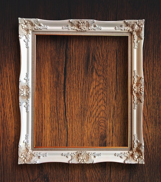 Old vintage rutic wooden picture frame  Premium Photo