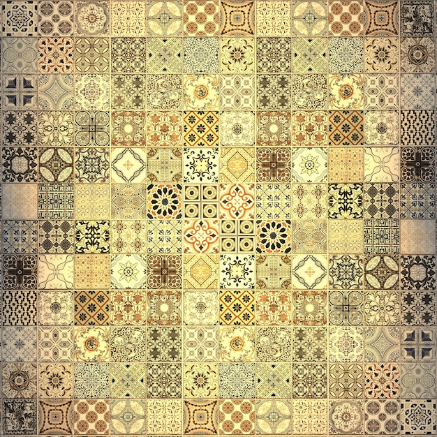 Old wall ceramic tiles patterns handcraft from thailand parks public ...