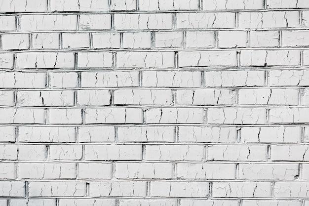 古い白いレンガの壁のテクスチャ背景 Premium写真