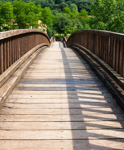The old wooden bridge Premium Photo