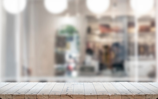 Old wooden counter table top in living room background Premium Photo