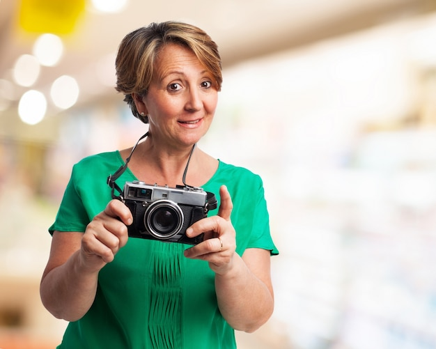 Older Woman With A Camera Photo  Free Download-4104