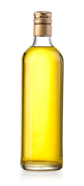Olive oil bottle on white Premium Photo