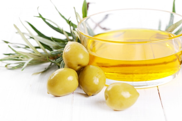 Olive oil bowl Free Photo