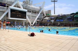 Olympic swimmingpool barcelona spain photo free download for Swimming pool show barcelona