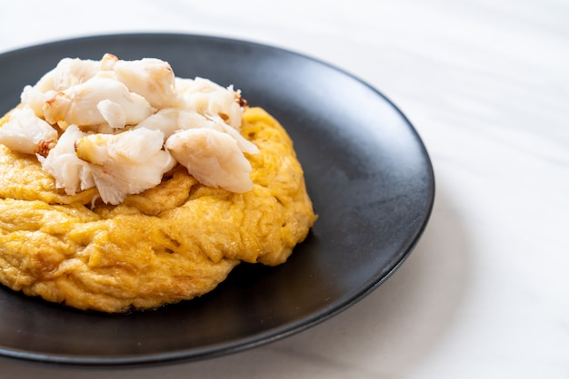Omelet with crab meat Premium Photo