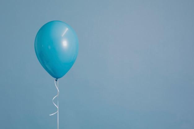 One blue balloon Free Photo