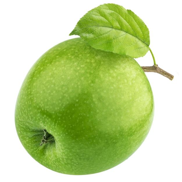 One green apple isolated Premium Photo