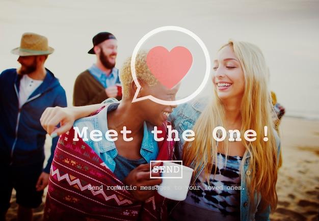 One online matchmakingにサインアップするコンセプト 無料写真
