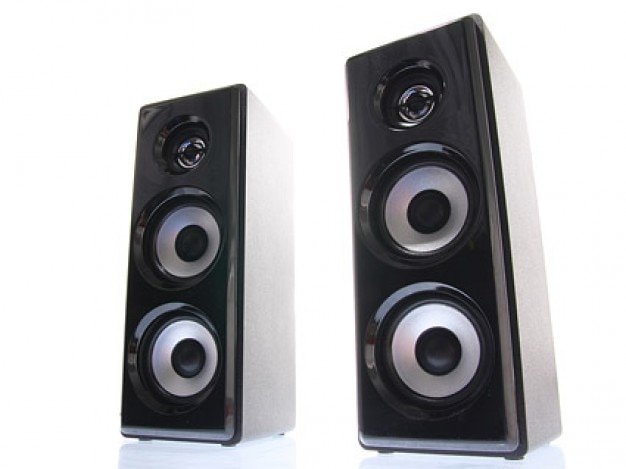 one pair of speakers picture material Free Photo