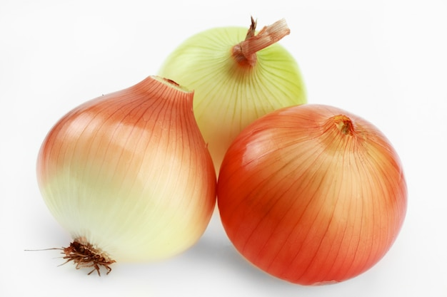 Onion for salad, on a white background. Premium Photo