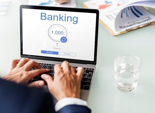 Online banking internet finance e-commerce Free Photo