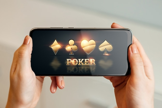 モバイルでのオンラインギャンブル Premium写真