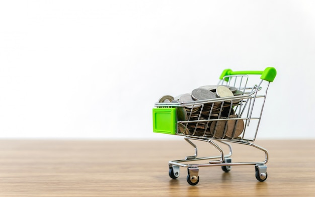 Online shopping cart sell of e-commerce convenience Premium Photo
