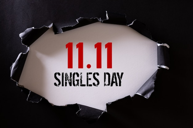 Online shopping of china, 11.11 singles day sale . Premium Photo