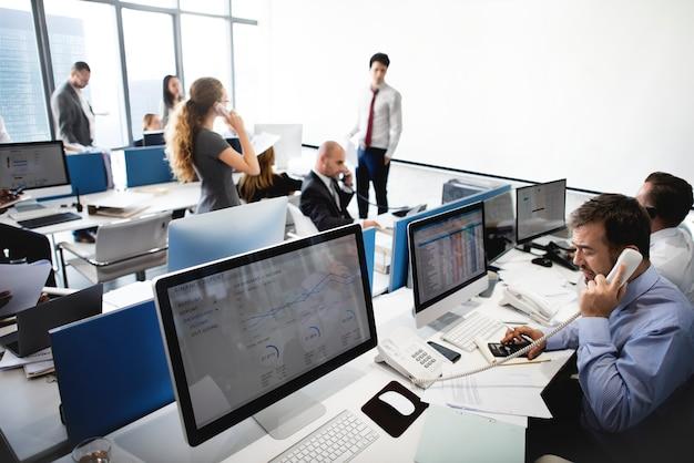 Online stock exchange team Premium Photo