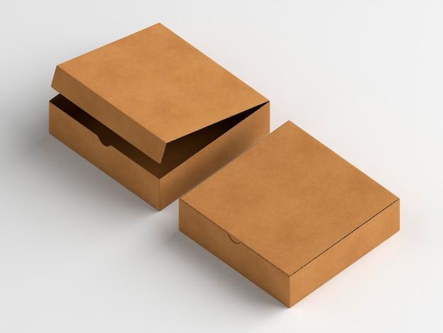 Открытые и закрытые картонные коробки Бесплатные Фотографии
