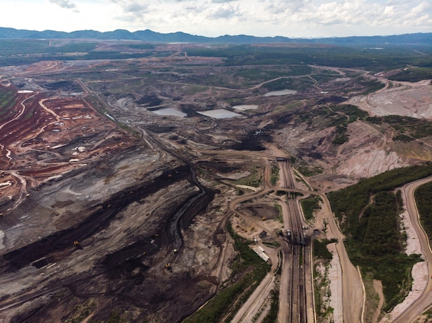 Open coal pit mine Premium Photo