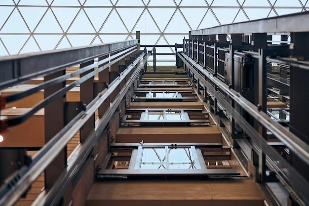 Open elevator lift shaft Premium Photo