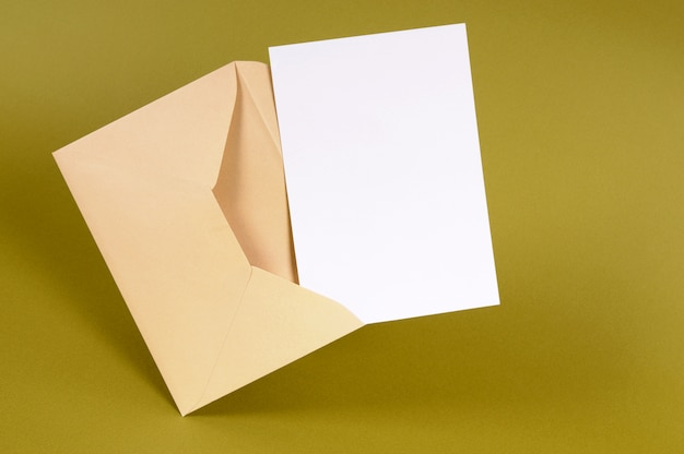 open envelope with letter free photo
