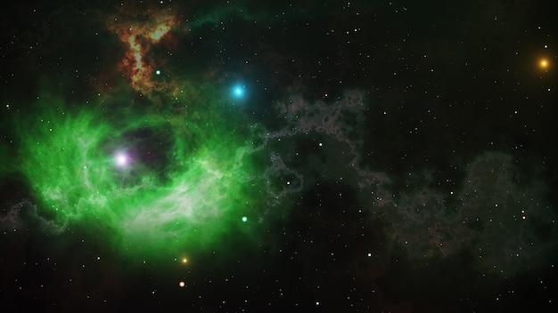Открытое пространство, звезды и туманности в космосе Premium Фотографии