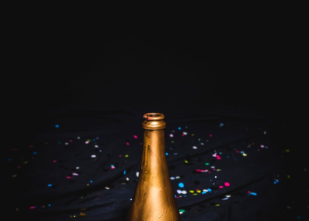 Opened bottle of champagne at party Free Photo