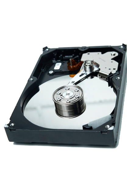 Open hard drive for data recovery