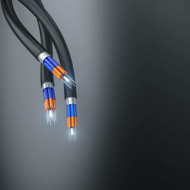 Optical fiber cable Premium Photo