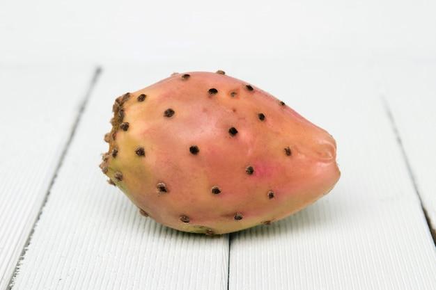 Opuntia ficus-indica cactus fruit on a white background Premium Photo