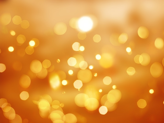 orange background with bokeh lights photo free download