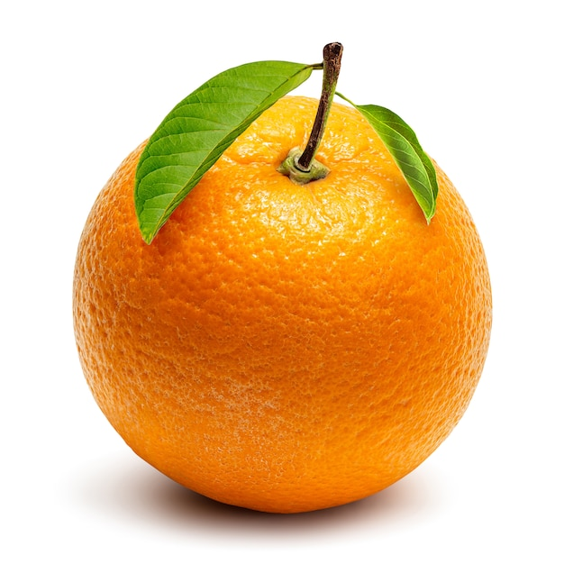Orange crop isolated Premium Photo