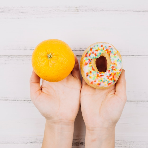 Orange and doughnut Free Photo