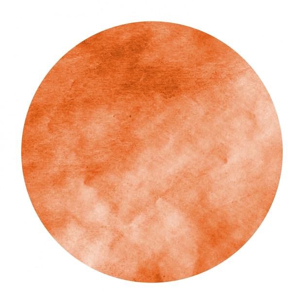 Orange hand drawn watercolor circle Premium Photo