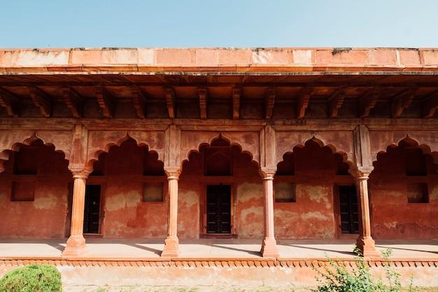Orange indian building in islamic style Free Photo