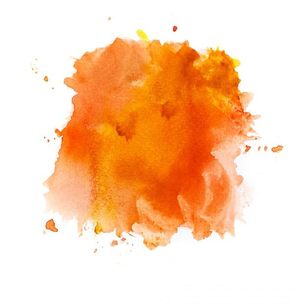 Orange watercolor background. Premium Photo