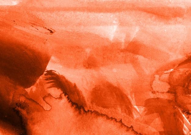 Orange watercolor texture Free Photo