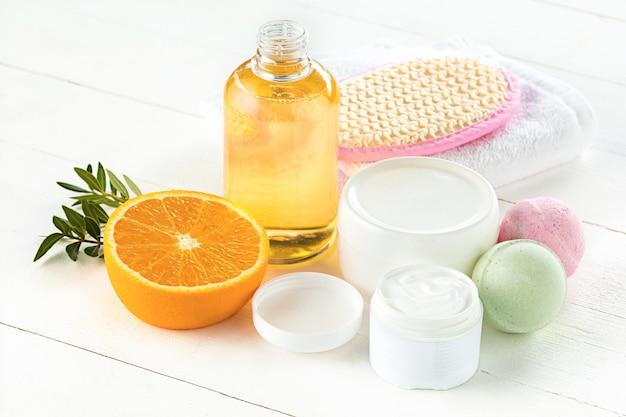 Oranges oil and orange Free Photo