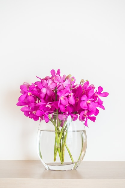 Orchid flower in vase Free Photo