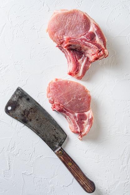 Био котлета из сырой свинины Premium Фотографии