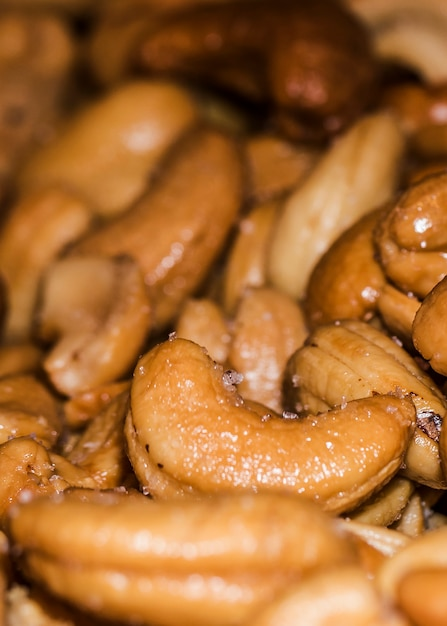 Organic cashew nuts for sale on market Free Photo