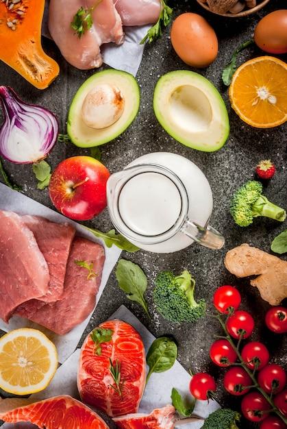 Organic food ingredients Premium Photo