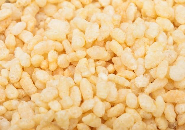 Organic fresh cereal granola rice flakes  macro texture Premium Photo