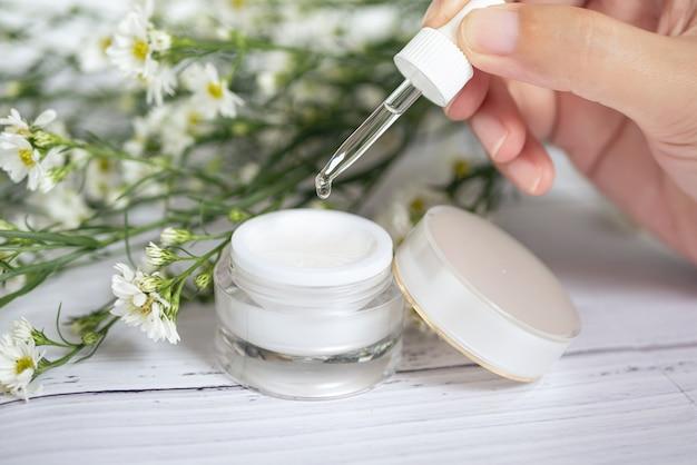 Organic natural skincare concept. Premium Photo